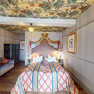 Hotelzimmer auf Schloss Elgersburg in Thüringen